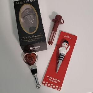 Wine Aerators and Stoppers, 2 Each